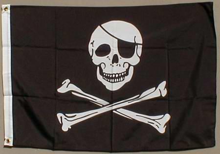 Wetterfeste Flagge Fahne : Pirat 90x60 cm