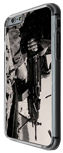 915 - Army scene equipment gun look cool Design For iphone 6 6S 4.7'' Fashion Trend CASE Back COVER Plastic&Thin Metal -Clear