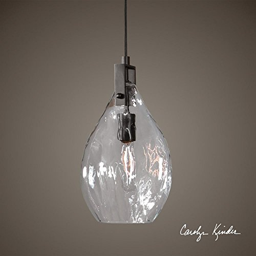 Price comparison product image Campester 1 Light Watered Glass Mini Pendant Model-22049