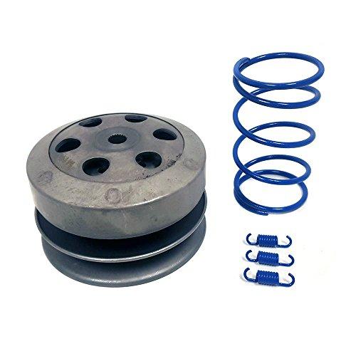 6/QMB139: Clutch + Torque and Clutch Shoe Springs set (1000 RPM) BLUE (Clutch Shoe Spring Set)