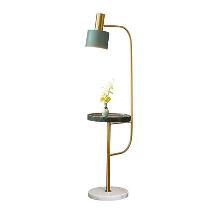 HLF- Lámpara de pie Simple, Mesa de Centro de mármol del ...