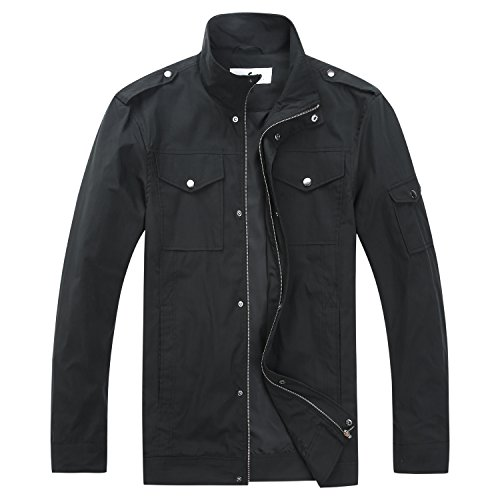 Common District Mens Big and Tall Relaxed Jacket Black]()