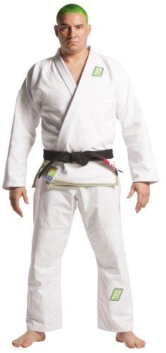 "Brazilian Fight Wear ""BAHIA"" Kimono, White, Adult 4"