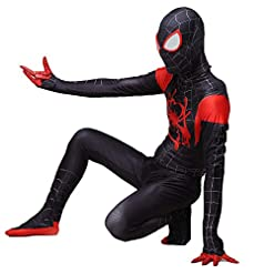 Da Mai Toddler Kids Spider Verse Miles Morales Gwen Jumpsuit Bodysuit Black Spider Tights Zentai Costume