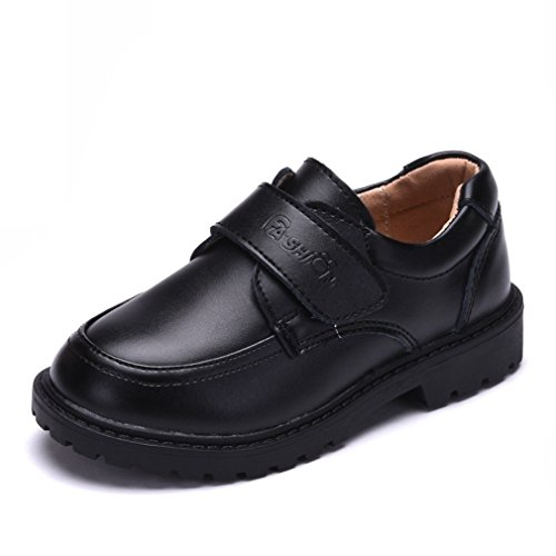 Hoxekle Boys British Style Oxford Shoes Kid Toddler Breathable School Uniform Dress Slip On Wingtip Shoes by Hoxekle