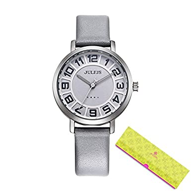 c092dbdbe58 Buy Julius Watches Women s Dress Ultra Thin Round Leather Relogio Ja-939  Beige Online at Low Prices in India - Amazon.in