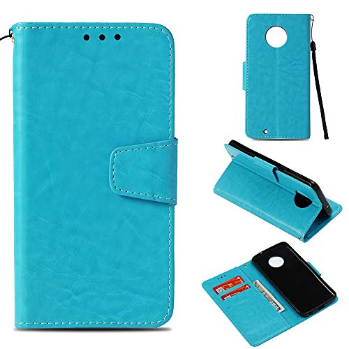 (Voanice Wallet Case for Moto G6 Case with Credit Card Slot Holder Kickstand Flip Cover Luxury PU Leather Magnetic Wrist Strap Phone Case Shockproof Protective for Motorola Moto G6 &)