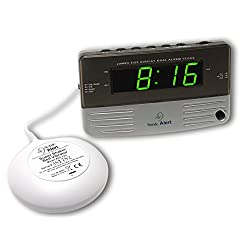 Sonic Alert Loud Dual Alarm Clock SB200ss with Vibrating Shaker