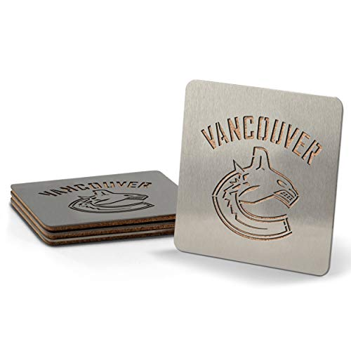 (NHL Vancouver Canucks Boaster Stainless Steel Coaster Set of 4)