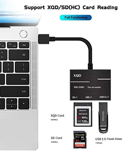 USB 3.0 to SD Card Reader Compatible with Sony G Series Lexar USB Mark Card SZYCD XQD Card Reader Adapter Support Windows//Mac OS System