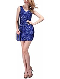 Sexy V Neck Sequin Glitter Bodycon Stretchy Mini Party Dress Night Out