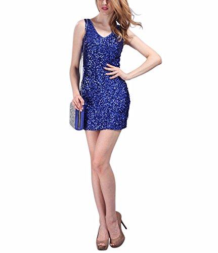 Blue Sequin Dress - 6