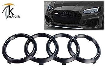 k-electronic Audi A5, S5, RS5 F5 B9 Emblema Negro Mate/Audi Anillos Enfriador Parrilla Frontal Delantera: Amazon.es: Coche y moto