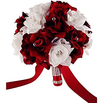 Amazon Wedding Bouquet 9 Wide 15 Dozen Apple Red And