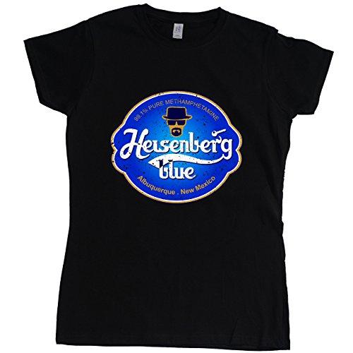 Stooble Womens's Heisenberg Blue Meth Black T-Shirt, Size XL