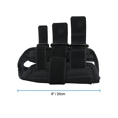 Wrist Brace Pair, Two (2), Small/Medium, Carpal Tunnel, Right and Left Wrist Support, Forearm Splint Band, 3 Straps Adjustable, Breathable for Sports, Sprains, Arthritis and Tendinitis