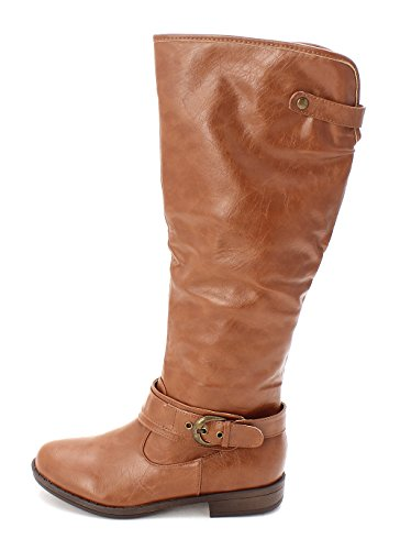 Just Fab Womens Gea Closed Toe Knee High Fashion Boots  Chestnut  Size 6 0