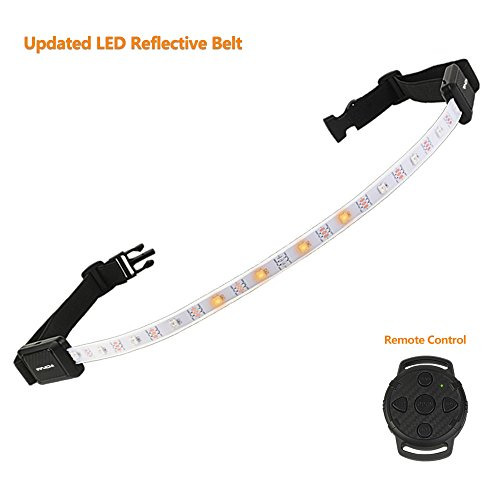 LED Reflective Belt High Visibility Security Light with USB Charging for Cycling for Women Men Kids