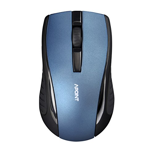 SROCKER ST6 2.4GHz Wireless Optical Silent Click Mouse with 3 Buttons and Nano USB Receiver for Laptop and Mac(Blue)