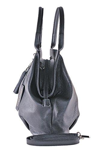 Giada Borderline 100 Cuir Noir Italy Sac Femme En Made In qTAxnR8q