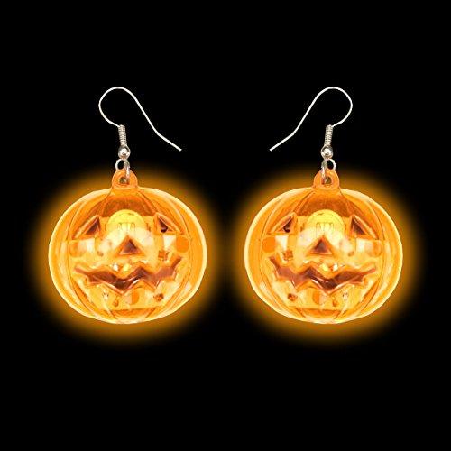 Light Up Pumpkin Earrings (1 Set)