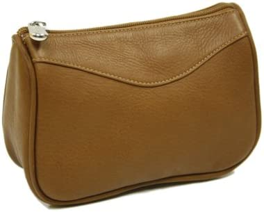 Piel Leather Carry-All Zip Pouch, Saddle, One Size