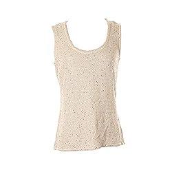 Sequin Sleeveless Knit Blouse