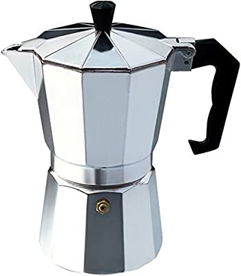 KIKIGOAL 300ml Cafetera de Acero Inoxidable Para Uso Doméstico Olla de Café Mocha Octagonal Italiana