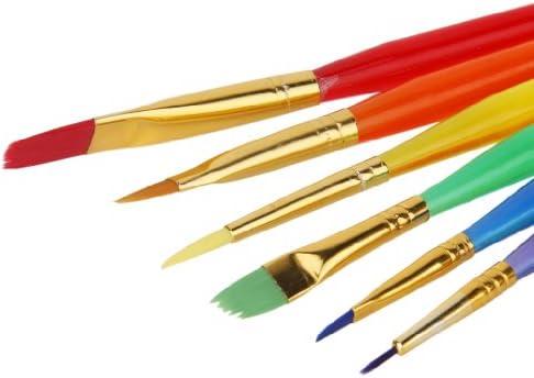【ノーブランド品】水彩画筆 水彩 油絵用筆 美術 ペイントブラシ 6本セット