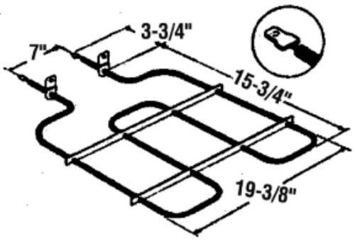 NATIONAL BRAND ALTERNATIVE RP789-464956 Bake Broil Oven E...