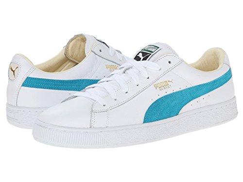 PUMA Mens Basket Classic Canvas Sneaker White/Capri Breeze 62UCnQ8