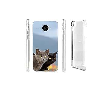FUNDA CARCASA DOUBLE CATS PARA HTC DESIRE 601