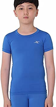 Henri Maurice Kids Compression Shirt Underwear Boys Youth Under Short Sleeve SK
