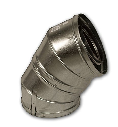 - FMI 30E-12DM 12 Woodburning Chimney Venting Pipe 30° Elbows - Set of Two