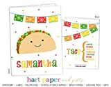 Taco Tuesday Fiesta 2 Pocket Folder Gift Name Back to School Supplies Teacher Office Birthday Girl Kids Custom Personalized Custom