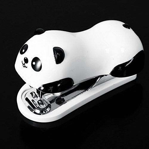 Cute Panda Mini Desktop Stapler&Staple Hand Stapler Office/Home Stapler(62.5CM)with 1000 Staples