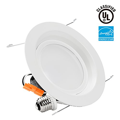 TORCHSTAR 6inch Dimmable LED Retrofit Recessed Downlight, LUTRON Caseta Dimmer Compatible, ENERGY STAR & UL Listed 18W (120W Equiv.) LED Ceiling Light - 2700K Soft White