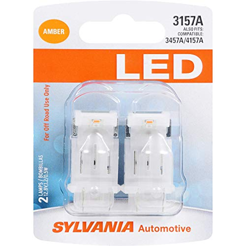 SYLVANIA - 3157 LED Amber Mini Bulb - Bright LED Bulb, Ideal for Park and Turn Lights (Contains 2 Bulbs)