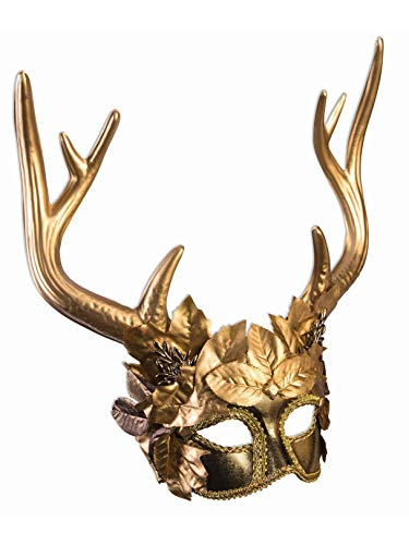 Golden Mask - Golden Faun Mask Costume Accessory