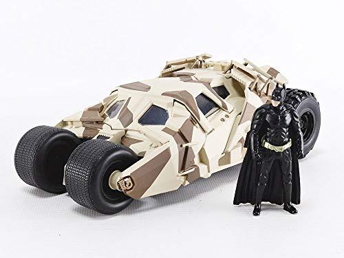 Jada Toys 1: 24 Scale The Dark Knight Batmobile Die-cast Vehicle with Batman Figure, Multicolor