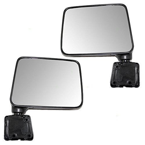 Driver and Passenger Manual Side View Mirrors Textured Replacement for Suzuki SUV 84702-83000-5PK 84701-83300-5PK AutoAndArt ()