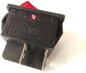 Wippschalter EIN//AUS Kippschalter 250V 15A 125V 20A AC CQC KCD4 rot beleuchtet