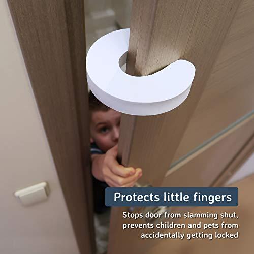 4 PK Door Guard Safety Baby Child Kids Finger Prevents Doors From Slamming Shut