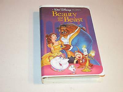 Walt Disney's Beauty And The Beast RARE Black Diamond Classic (VHS - Vhs Black