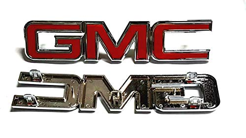 - Minigo G-38PS 2015 2016 2017 Yukon/Canyon Front Grille Emblem Badge NamePlate # 22814065 for Gmc Yukon/Canyon (Silver)
