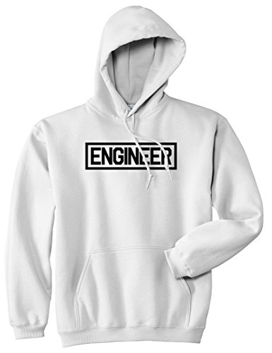 Engineer Occupations Mens Hoodie - Engineer Occupation Job Pullover Hoodie Hoody Medium White