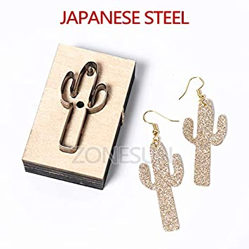 Amazon.com: Cactus Shape Pendiente de corte de metal ...