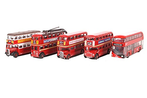 Oxford Diecast NSET004 5 Piece Bus Set London Transport 1:148 (N) Scale Diecast - Oxford Street 400