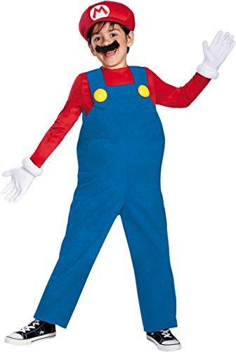 Morris Costumes DG67819L Mario Bros Deluxe Boys (Mario Bros Pumpkin)
