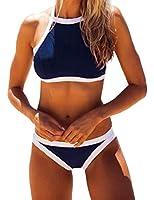 Ninimour Women Push Up Halter Swimsuit Bikini Set